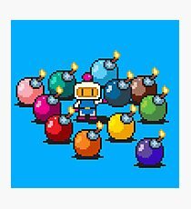 Bomberman Rainbow Bomb Set pixel art by PXLFLX Photographic Print