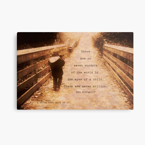 boy; ... a noise with dirt on it Metal Print