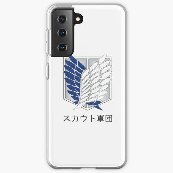 Attack on Titan Shingeki no Kyojin Logo SNK Funda blanda para Samsung Galaxy