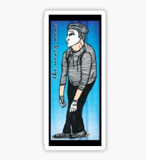 the weary mime - tee Sticker