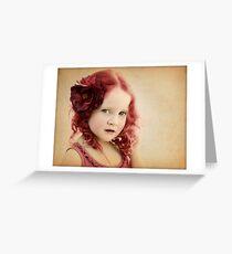 Mila as a Vintage Rose Greeting Card