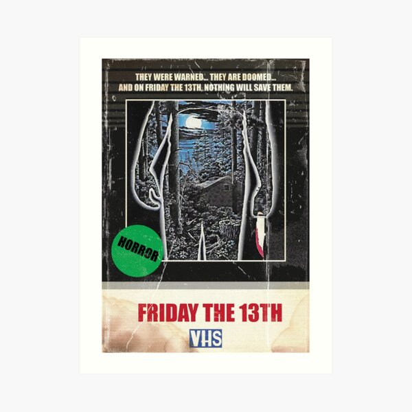 Friday the 13th 1980 VHS Poster Art Print