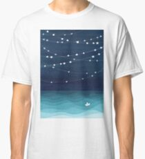 Garland of stars, teal ocean Classic T-Shirt