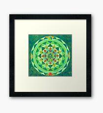 Stier horoscoop mandala Framed Print