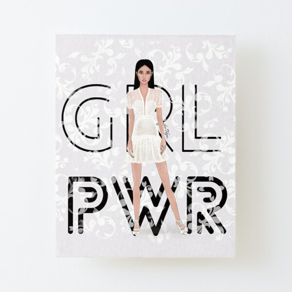 Girl Power Canvas Mounted Print