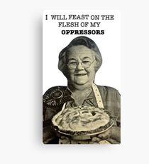 Eat Oppressor Flesh Canvas Print