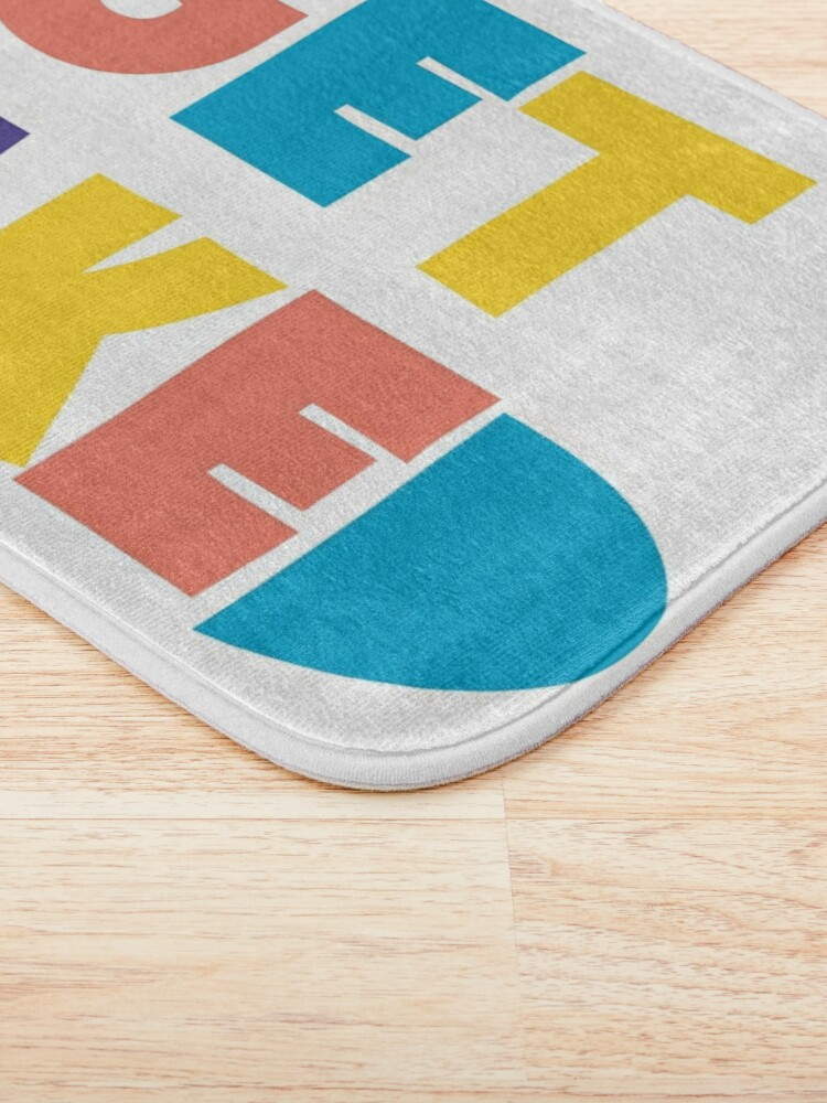 Alternate view of Get Naked Colorful Fun Cool Graphic Typography Bath Mat