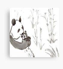 Panda Sumi-e  Metal Print