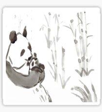 Panda Sumi-e  Sticker
