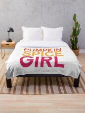 Pumpkin Spice Girl Throw Blanket