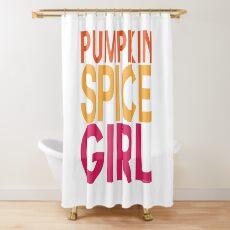 Pumpkin Spice Girl Shower Curtain
