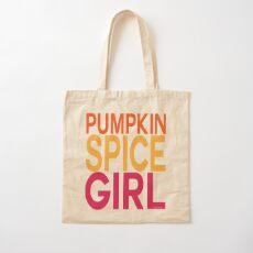 Pumpkin Spice Girl Cotton Tote Bag