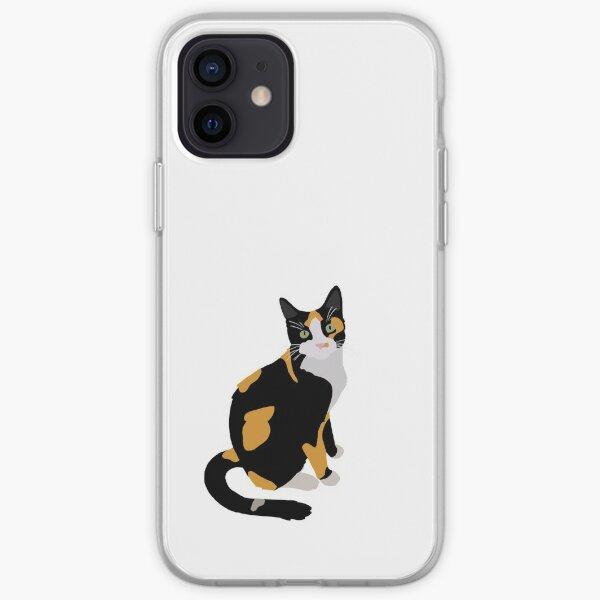 Calico Portrait, Cute Calico Cat, Calico Cat Lover  iPhone Soft Case