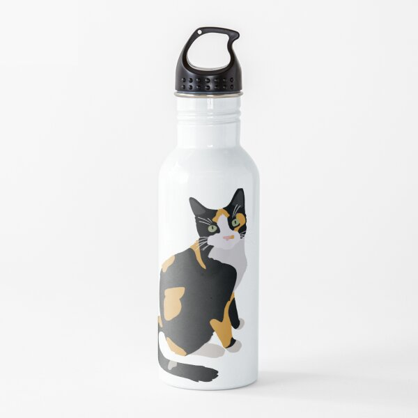 Calico Portrait, Cute Calico Cat, Calico Cat Lover  Water Bottle