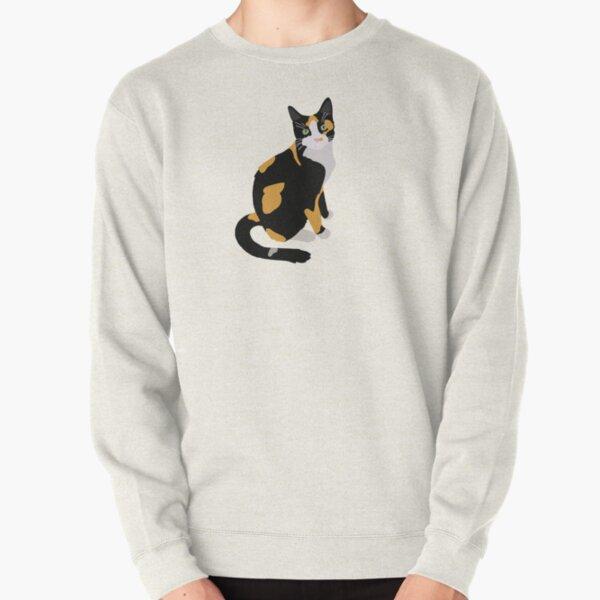 Calico Portrait, Cute Calico Cat, Calico Cat Lover  Pullover Sweatshirt