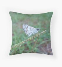 Spring Azure butterfly with an ant Throw Pillow