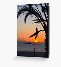 Sunset in Mykonos, Greece Greeting Card