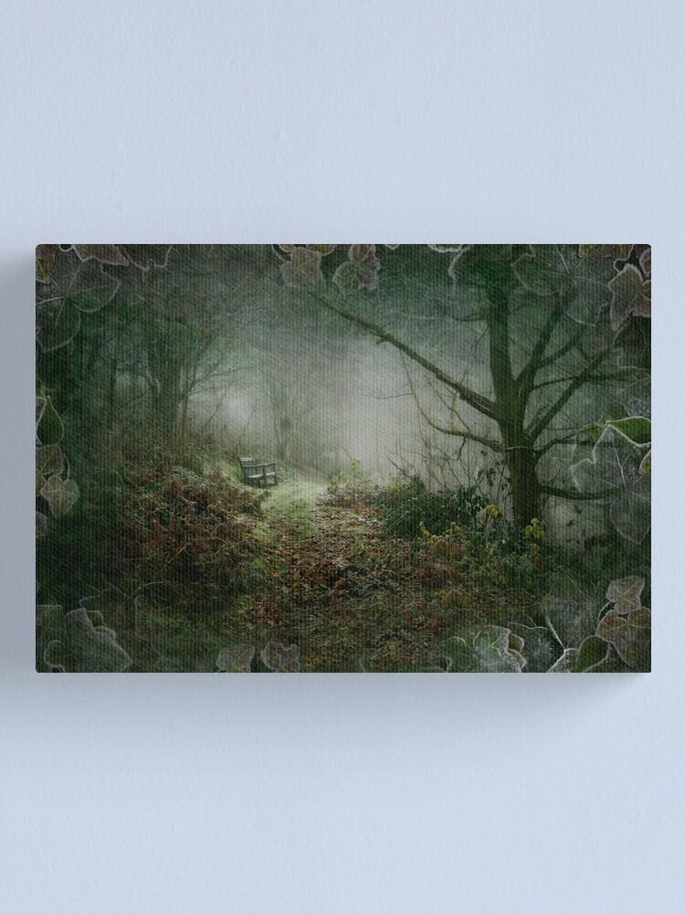 Alternate view of A Winter's Walk Canvas Print