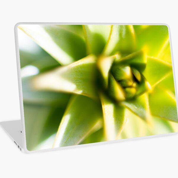 Lime green Lily bud Laptop Skin