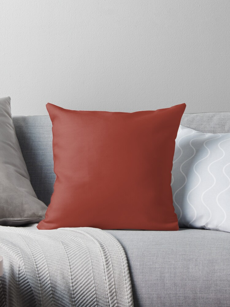Dark Red Throw Pillows.Colors Of Autumn Maple Leaf Dark Red Solid Color Throw Pillow By Simplysolid