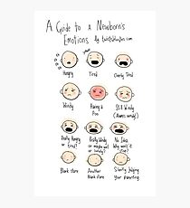 A guide to newborn emotions Photographic Print