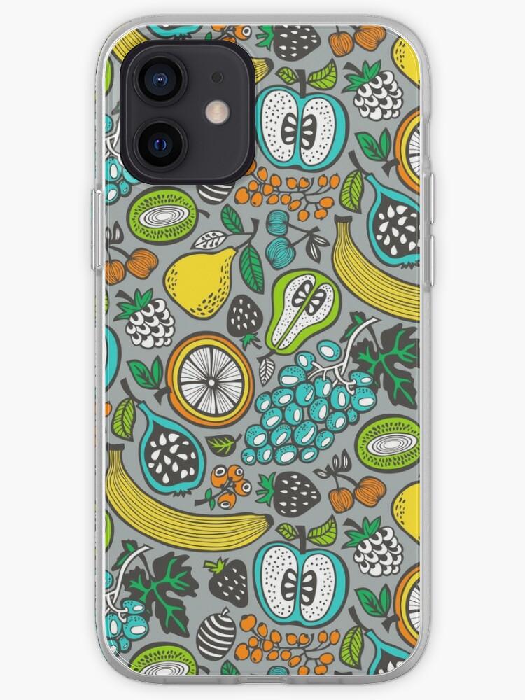 Cocktail de fruits en gris | Coque iPhone