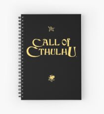 Call of Cthulhu - Logo (gold with Elder Sign & Chaosium Inc. Logo) Spiral Notebook