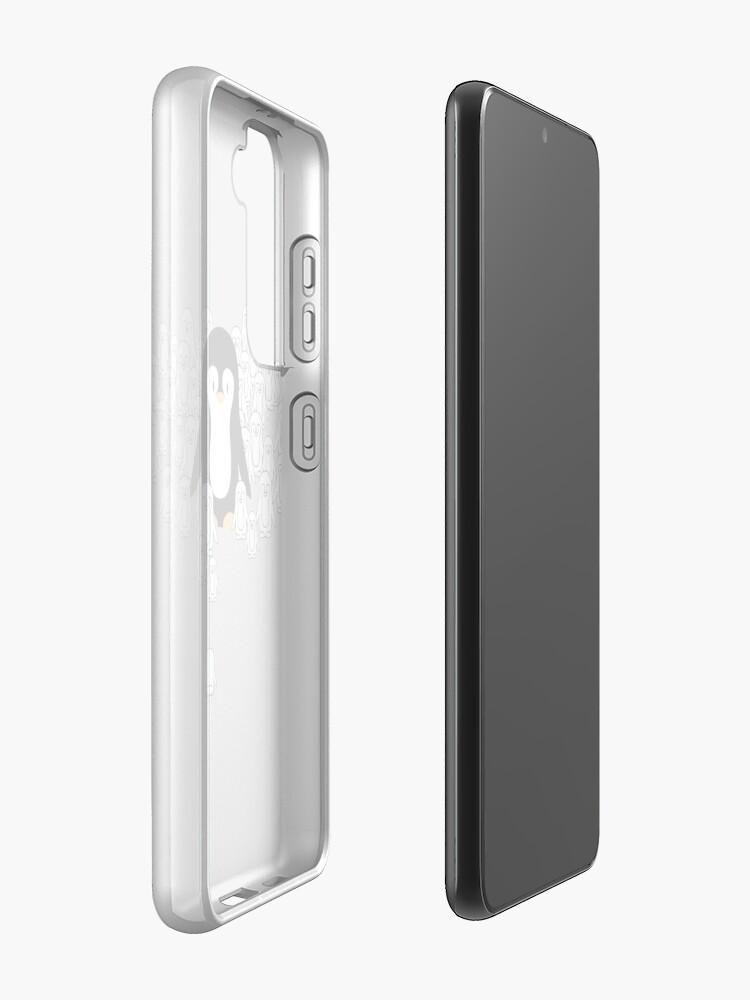 Alternate view of Penguin Mark Case & Skin for Samsung Galaxy