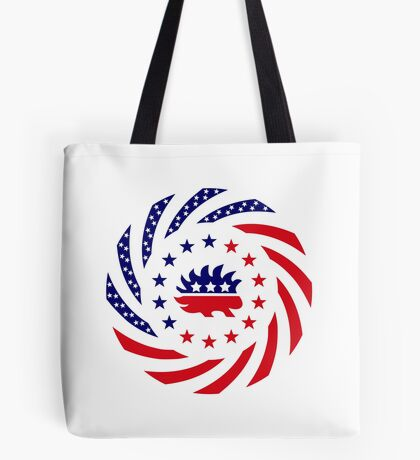 Libertarian Murican Patriot Flag Series Tote Bag