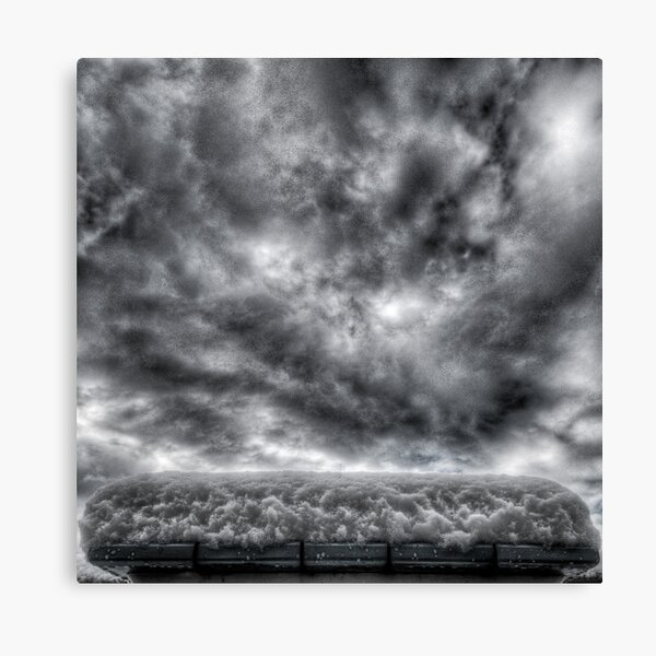 First Snow on Mayne Canvas Print