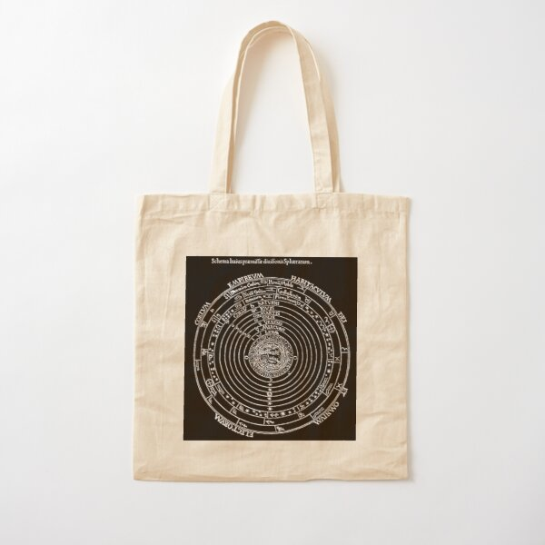 #Diagrams of the #cosmos according to Petrus #Apianus, #Cosmographi  Cotton Tote Bag