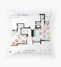 Floorplan of Friends Apartment (Old version) Throw Pillow