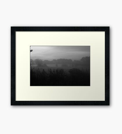 Boat in the Mist Framed Print
