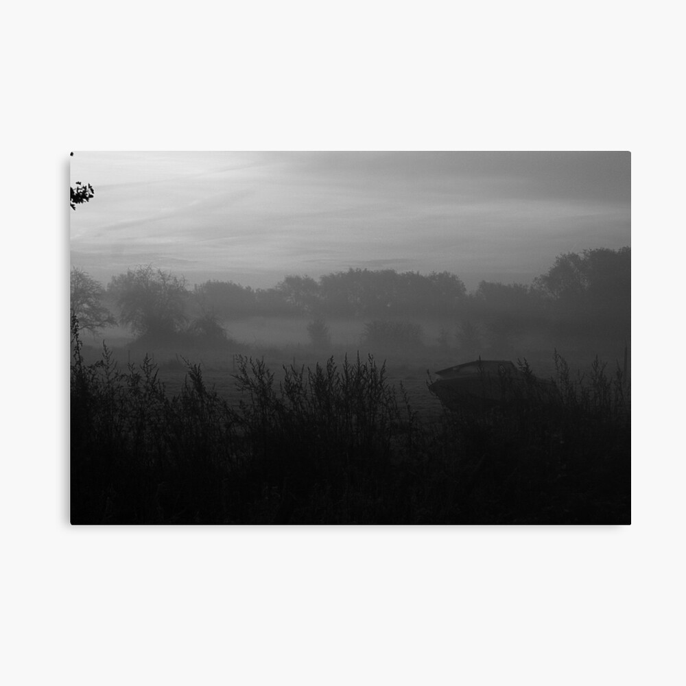Boat in the Mist Canvas Print