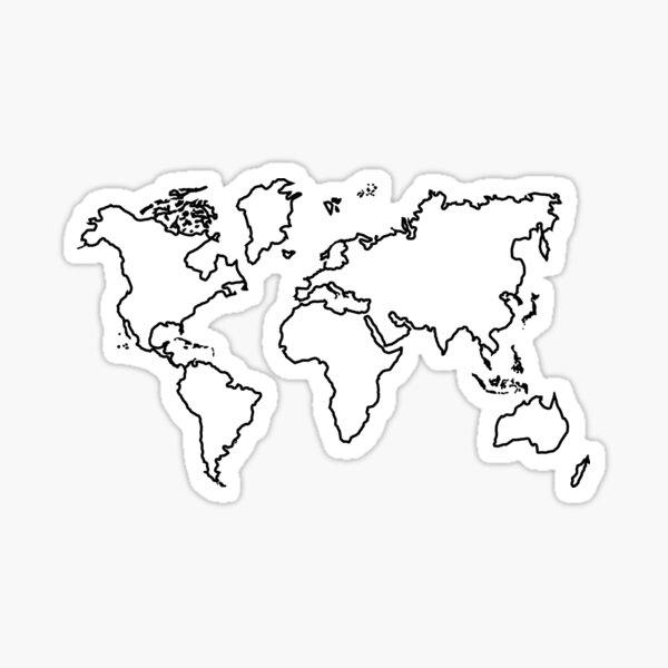 World Map Outline Sticker
