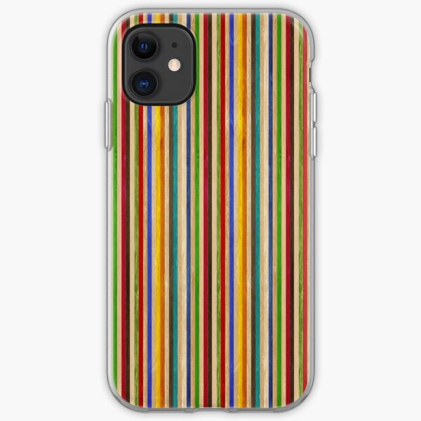 Recycled Skateboard Rainbow Texture iPhone Soft Case