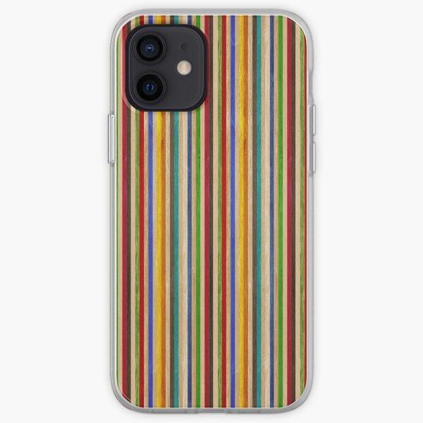 Monopatín reciclado textura arcoiris Funda blanda para iPhone