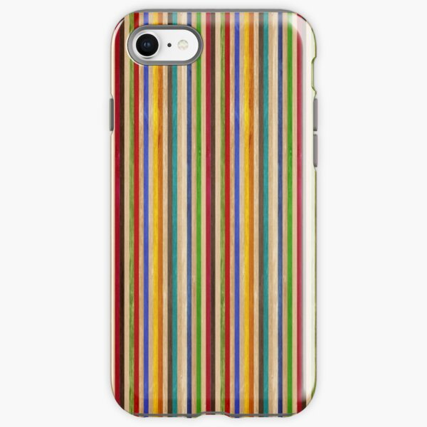 Recycled Skateboard Rainbow Texture iPhone Tough Case