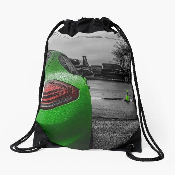 Green Porsche  Drawstring Bag