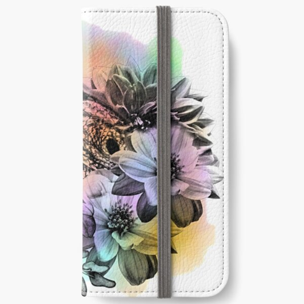 Bearded Dragon Floral Watercolor iPhone Wallet