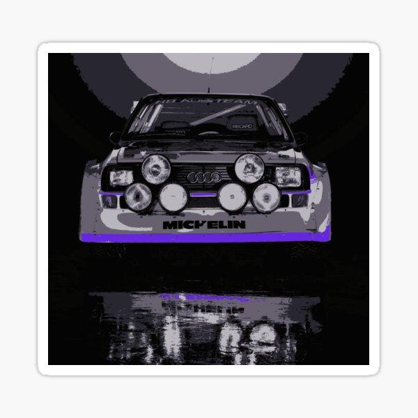 Audi Quattro S1 - Group B Rally Race Car Glossy Sticker
