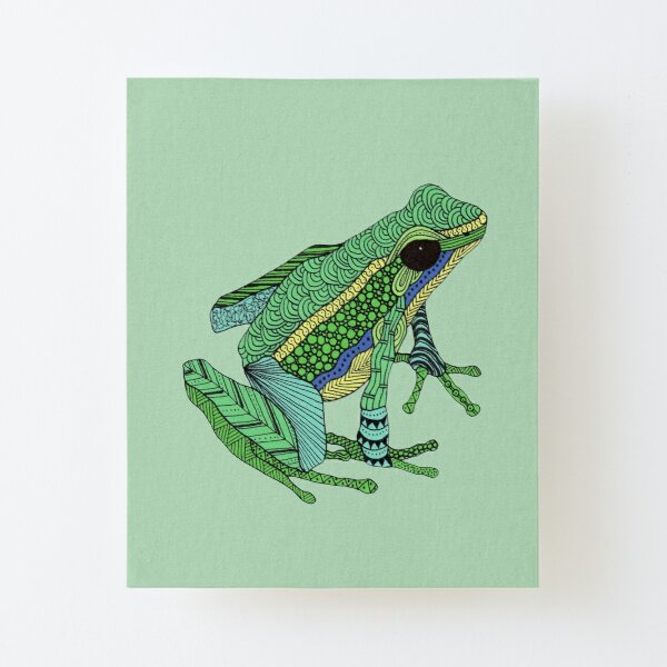 Green frog Canvas Mounted Print
