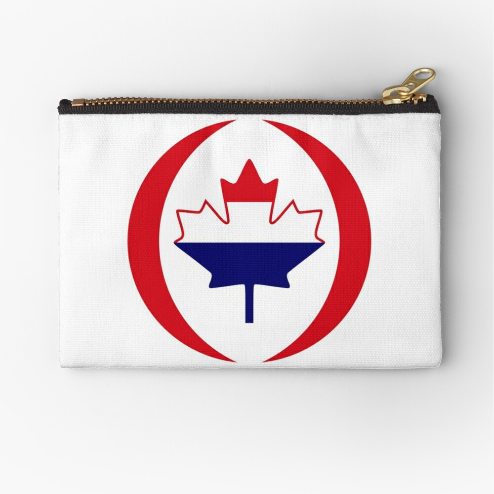 Dutch Canadian Multinational Patriot Flag Series Zipper Pouch
