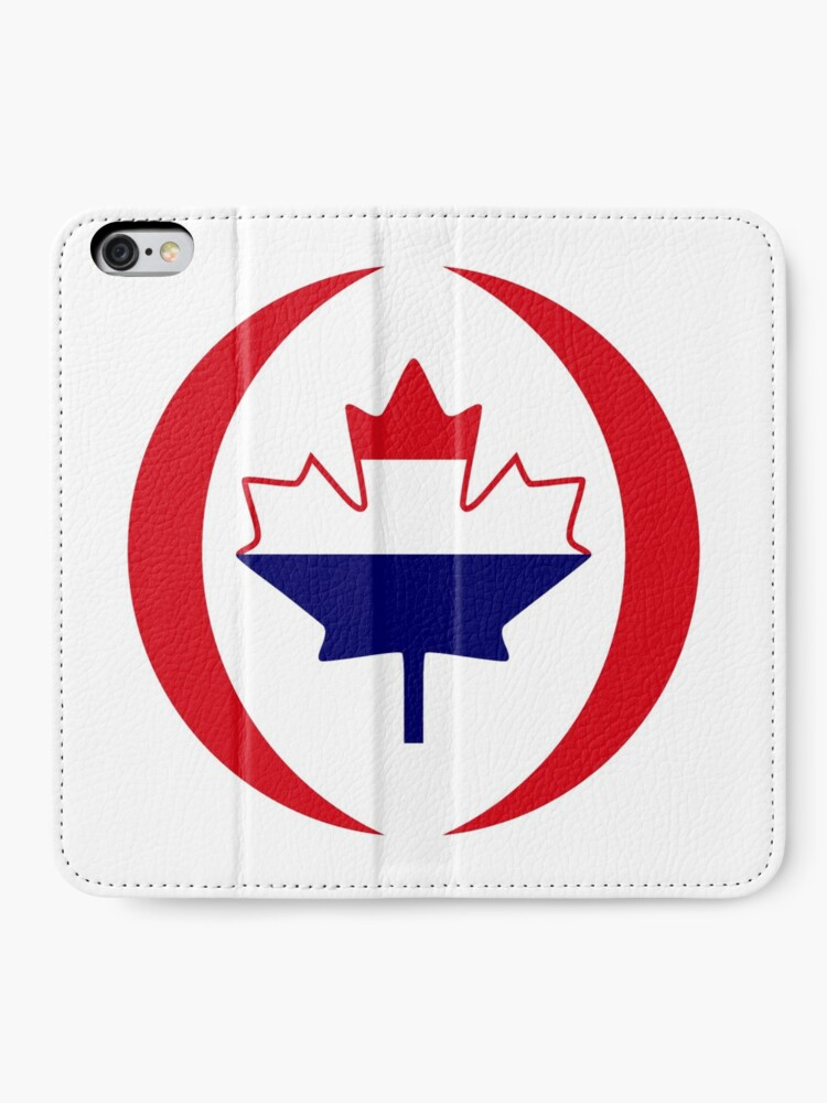 Alternate view of Dutch Canadian Multinational Patriot Flag Series iPhone Wallet