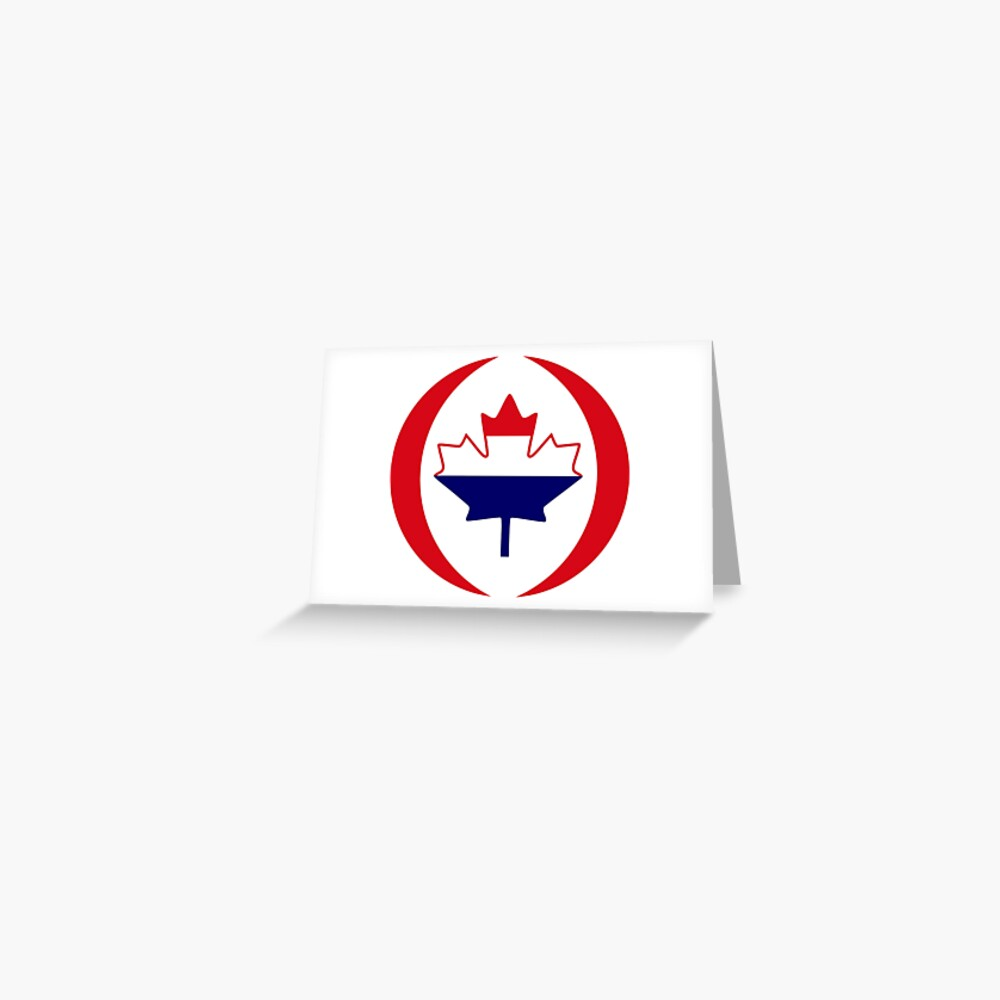 Dutch Canadian Multinational Patriot Flag Series Greeting Card