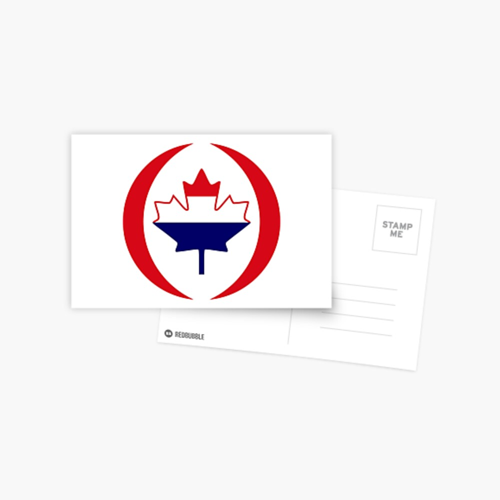 Dutch Canadian Multinational Patriot Flag Series Postcard