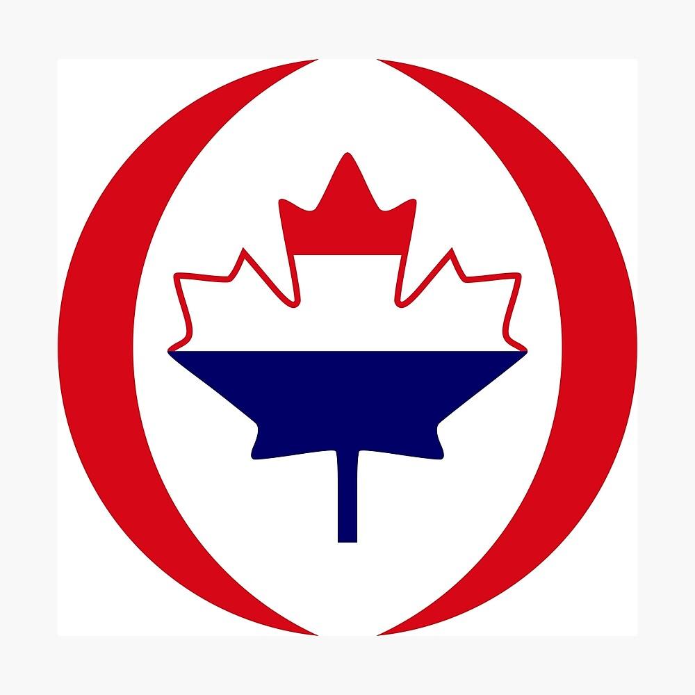 Dutch Canadian Multinational Patriot Flag Series Photographic Print