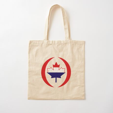 Dutch Canadian Multinational Patriot Flag Series Cotton Tote Bag