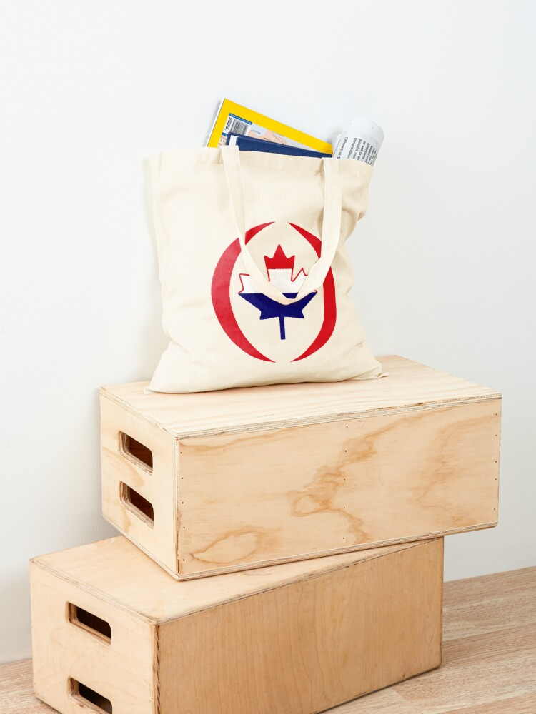 Alternate view of Dutch Canadian Multinational Patriot Flag Series Tote Bag