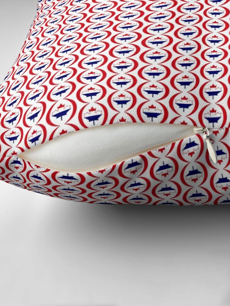 Alternate view of Dutch Canadian Multinational Patriot Flag Series Floor Pillow